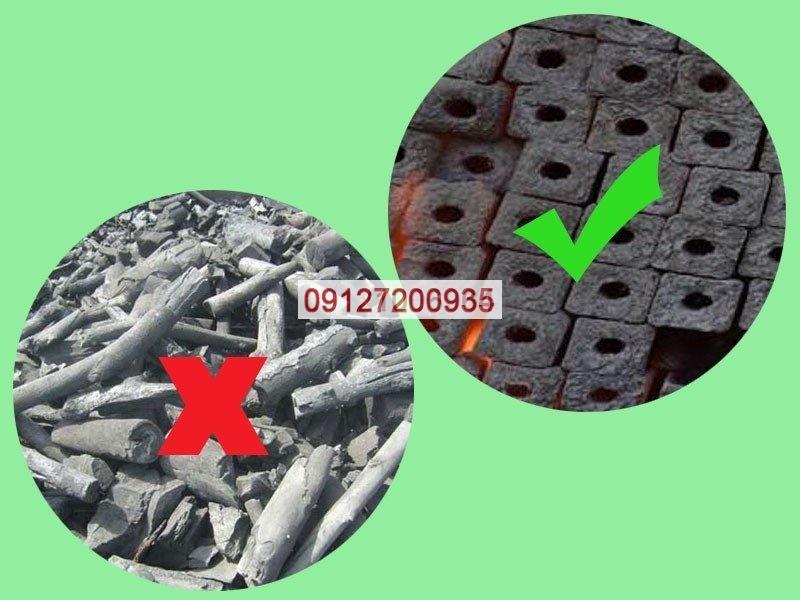 تفاوت زغال فشرده و سنتی